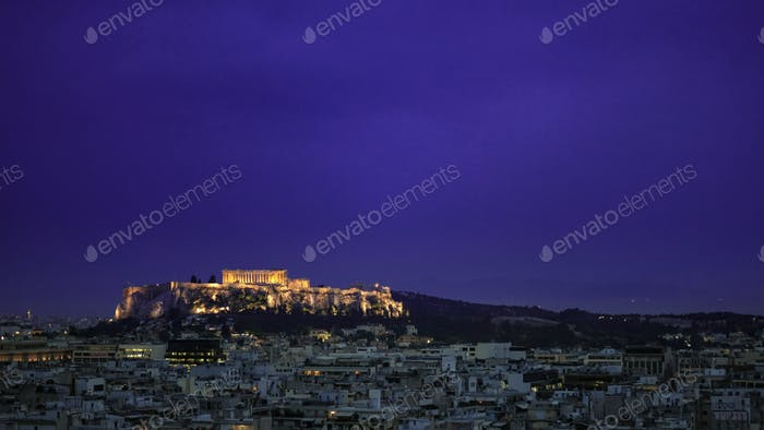 Early evening upon the Acropolis & mighty Parthenon, Athens, Greece.
