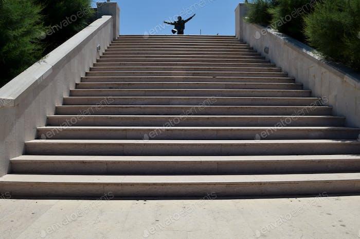 Eine allgemeine Ansicht von Treppen