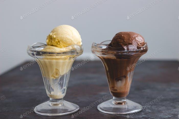 Schokolade und Vanille