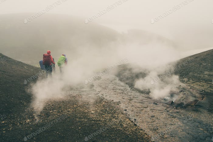 Backpacking geothermal fields