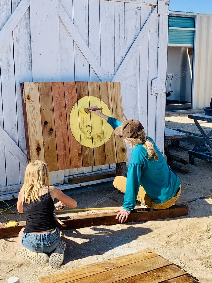 Backyard art project