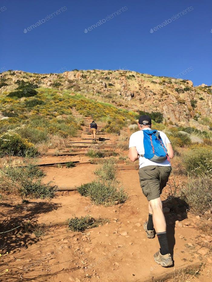 Hiking in Mission Trails. San Diego, California