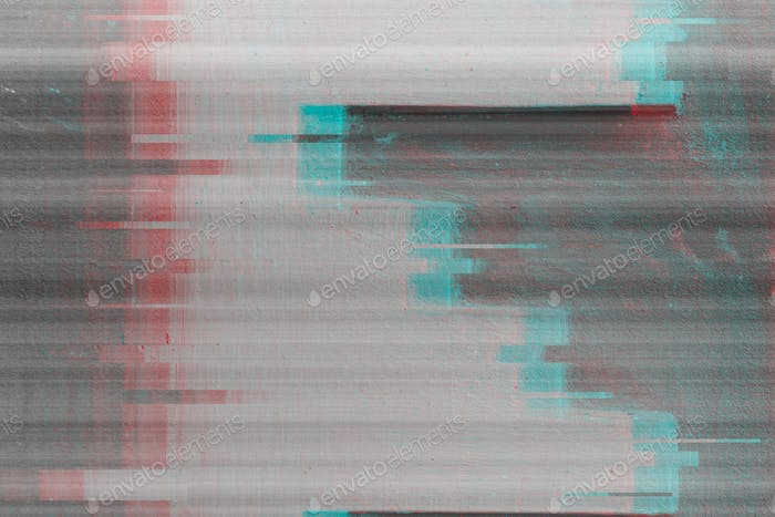 Abstrakter lauter Hintergrund mit Glitch-Effekt. VHS hat den Signaleffekt beschädigt.