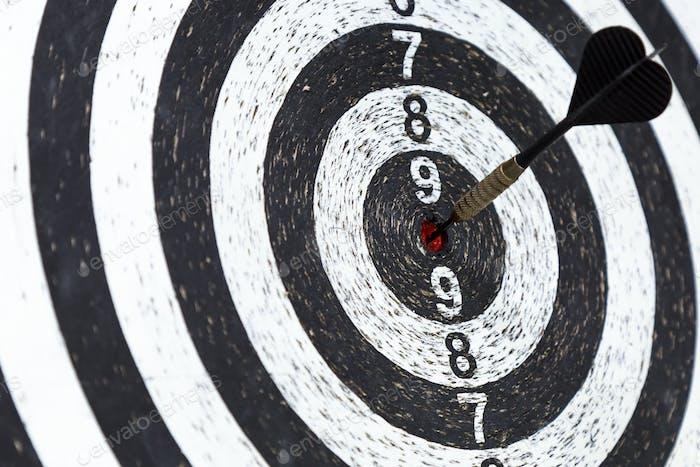 arrow in center of circular target