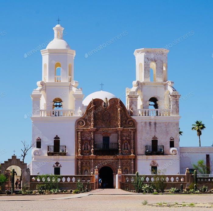 Mission St Xavier, the oldest European architectural structure In Arizona