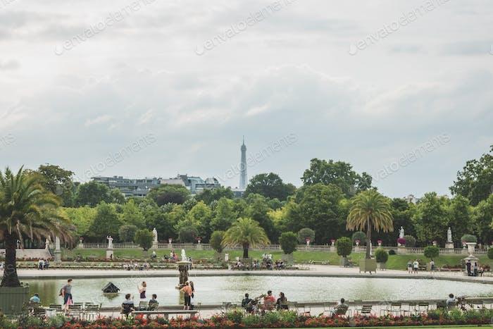 Parisian garden.
