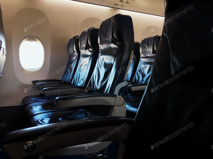 Armchairs in airplane
