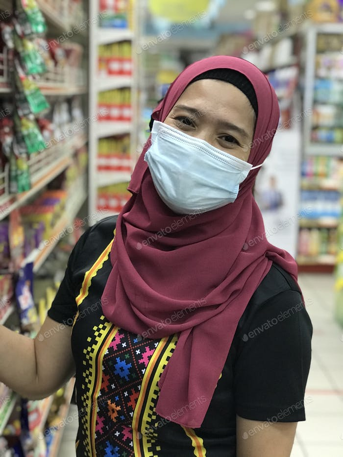 Portrait of a woman wearing hijab