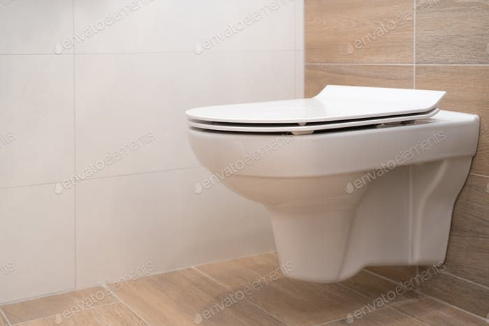 A new white toilet