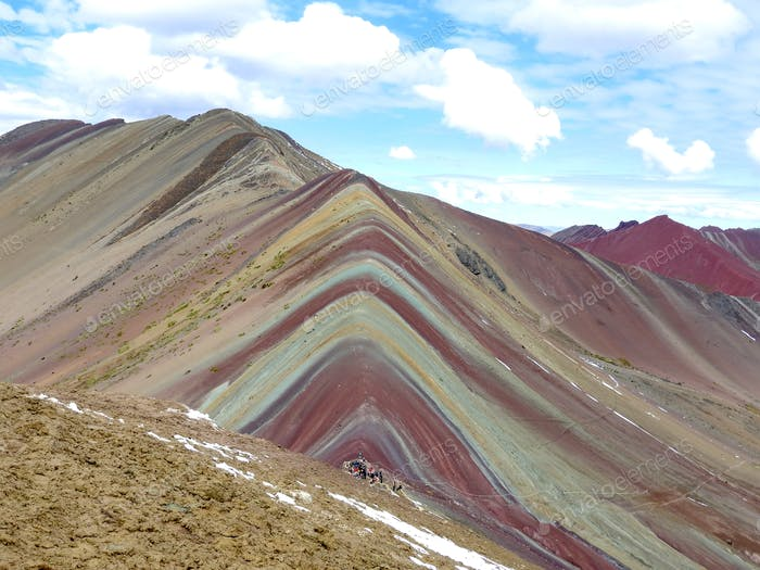 A colorful mountain