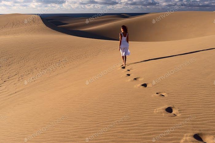 Minimalism. Sand dunes in Gran Canaria