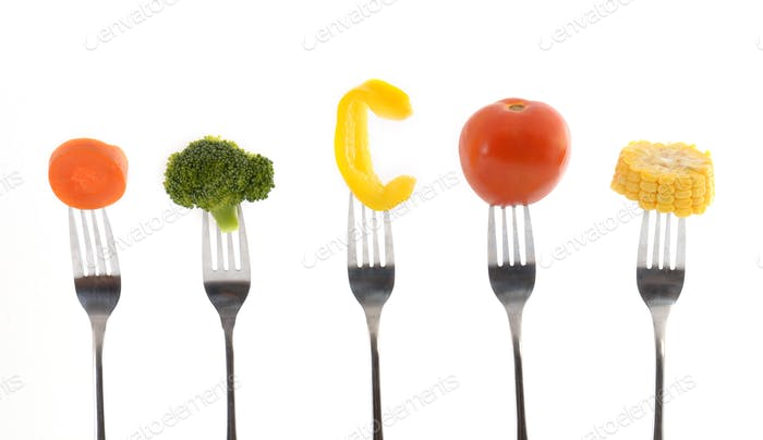 Multi-colored vegetables