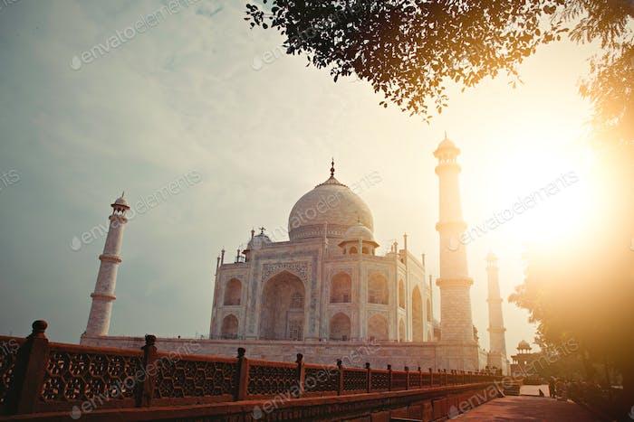 One of the 7 wonders of the world. Taj Mahal, Agra, India.