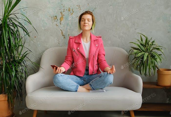 Meditation with phone