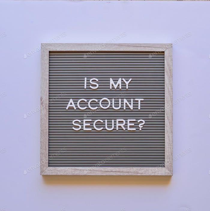 Is my account secure?