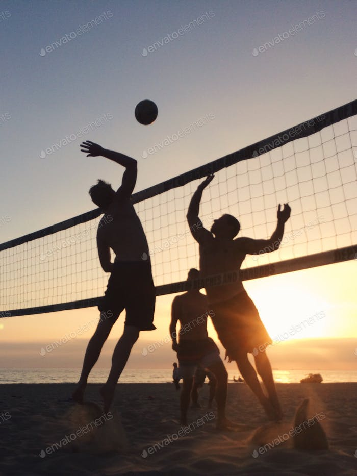 Volleyball at Sunset
