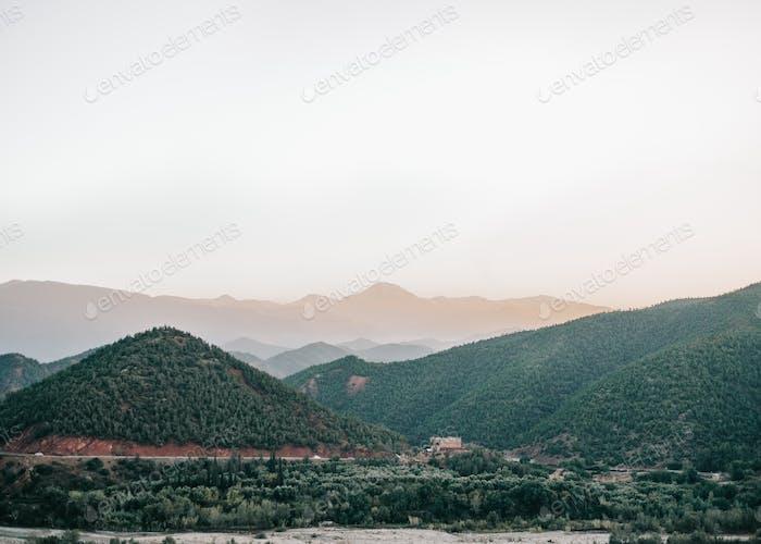 Beautiful landscape in Ourika atlas mountain - Morocco