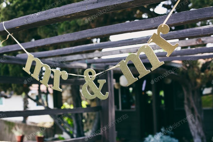 Sign for a LGBT engagement party: mr & mr.