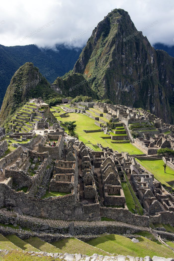 Machu Picchu, a fortified Inca town in the Andes in Peru, which the invading Spaniards never found.
