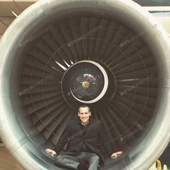 Flughafen Fluggesellschaft Flugzeug Triebwerk fliegen