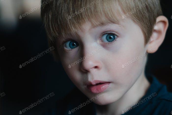 Baby boy cute face