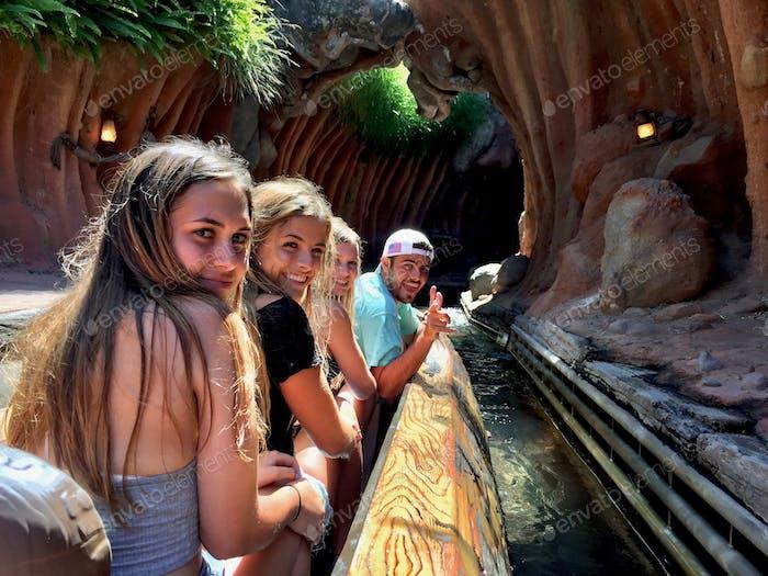 Millennials having fun at Disneyland on Splash Mountain!!  Disney