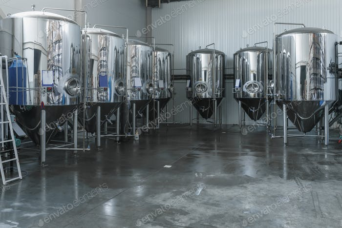 plenty of aluminum barrels in the factory