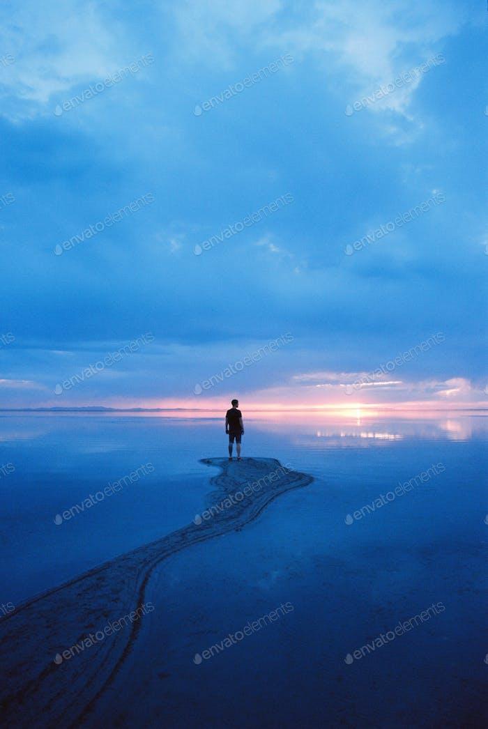 Sunset at Antelope Island, Utah Taken with a Nikon FE 35mm on Ektar100 Kodak film
