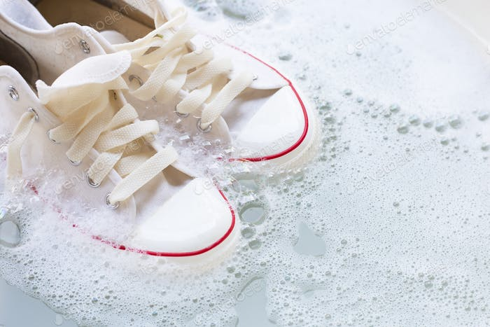 Soak shoes before washing. Cleaning Dirty sneakers
