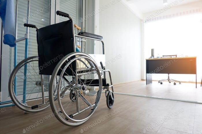 Wheelchair in clinic
