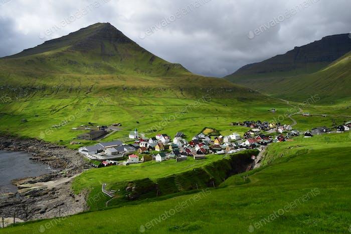 Faroe Islands, Gjogv, Eysturoy