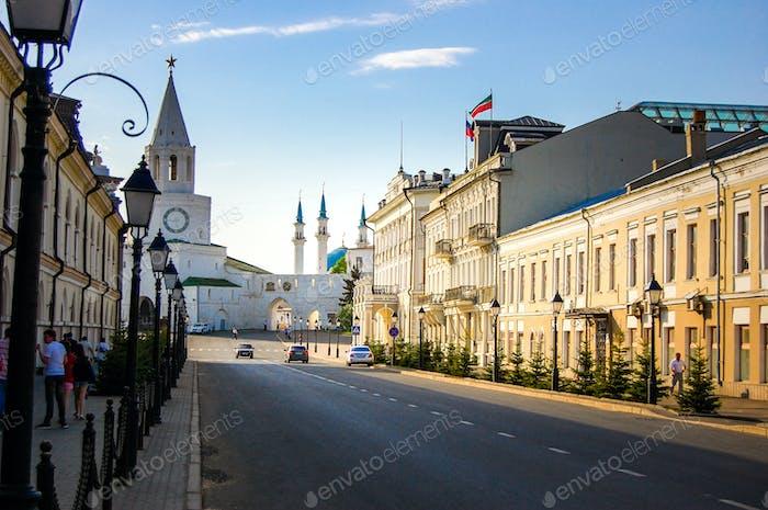 Entrance to the Kazan Kremlin. Kazan, Russia