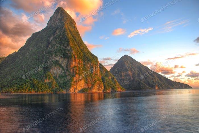 Caribbean sunset - St Lucia
