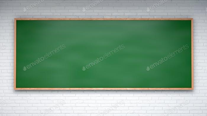 Chalkboard blackboard frame . Black chalk board empty blank - classroom