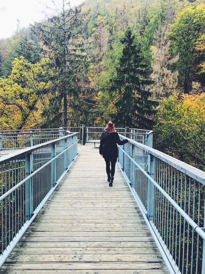 Woman walking on a high line  - NOMINATED 🌲✨ a