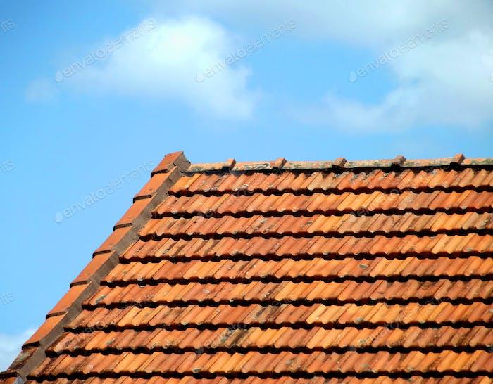 Orange terracotta tiled roof