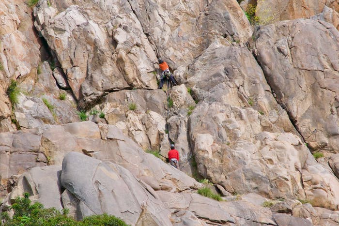 Rock climbing in Mission Trails in San Diego California. tonythetigersson, Tony Andrews Photography