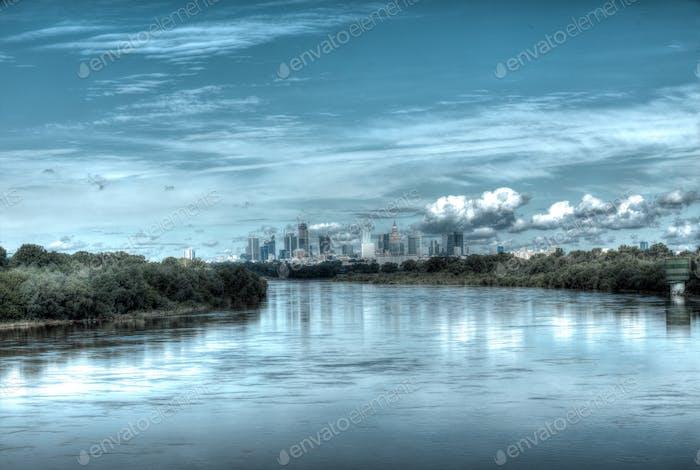 Warszawa, Warsaw, Polska, Poland, view city, Europe, tourism in Europe, travel, river