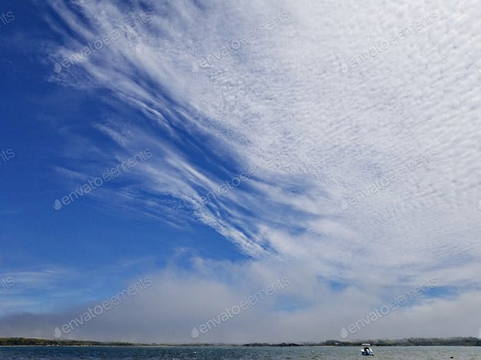 Incredible white puffy clouds