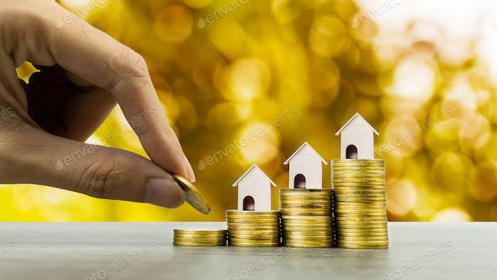 Konzept der Immobilieninvestitionen.