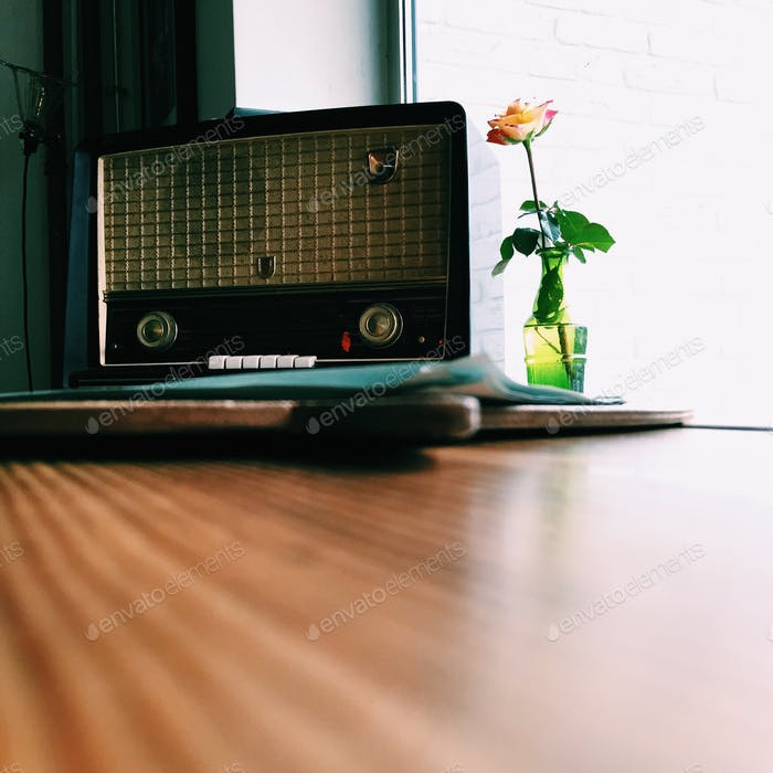 Old fashioned Philips Radio receiver