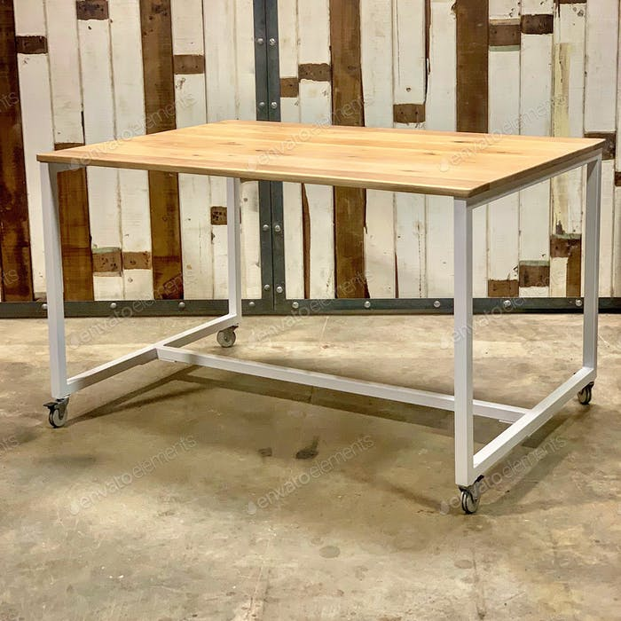Table on casters furniture