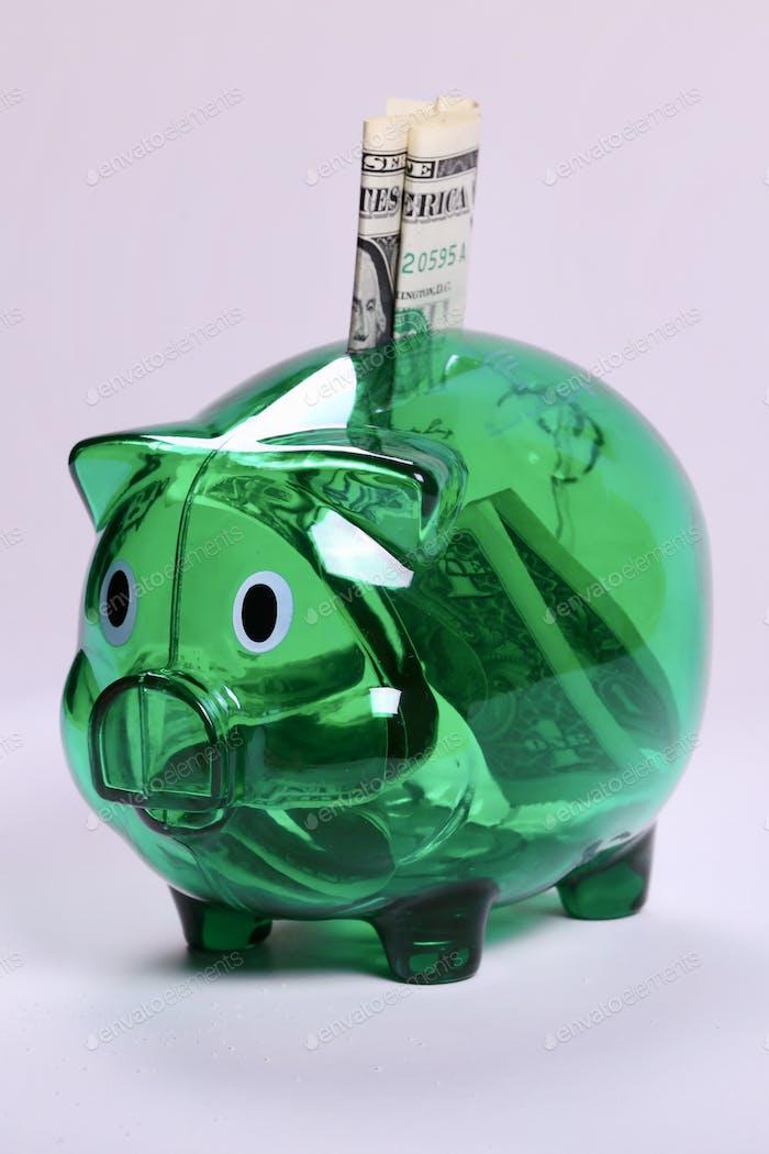 Piggy bank, piggy bank and dollar, money, box, business, symbol, account, budget, deposit, future