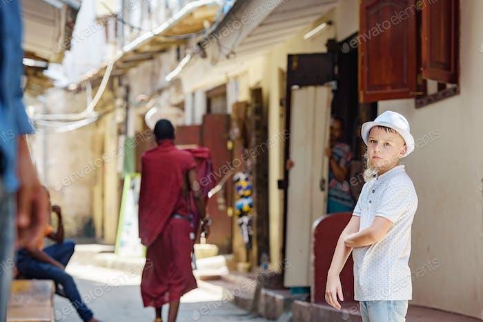 Old town Stone town on Zanzibar island