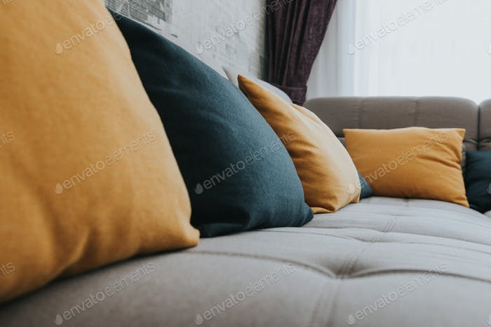 Pillow on a couch