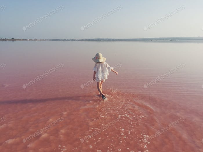 Pink lake of Torrevieja