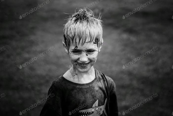 Mud fight.