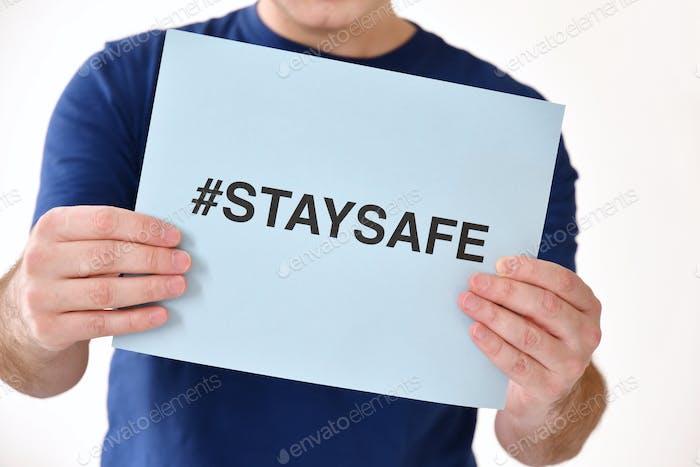 Signo de mantenerse seguro