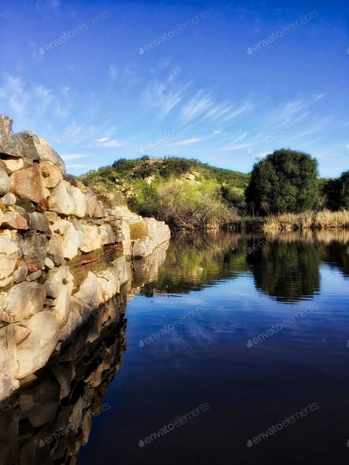 The Old Mission Dam on the San Diego River.