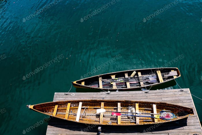 Rowboats floating in the Boston Harbor  ***nominated***